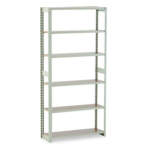 Tennsco RGL1236ASD Regal Shelving Add-On Unit, Six-Shelf, 36w x 12d x 76h, Sand