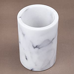 Creative Home Natural White Marble Wine Cooler