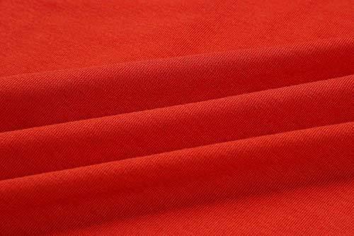 Line Sleeve 1 red Belt Short Dress Elegant MIDOSOO Casual Dress Womens Shirt Shirt T wZnqTtAafq