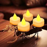 EverBrite 48PC Vela LED Sin Llama Vela Electrónica Lámpara de mesa Luz de Té con Pilas Duración Prolongada 120 Horas para Decoración Festivales [Clase ...