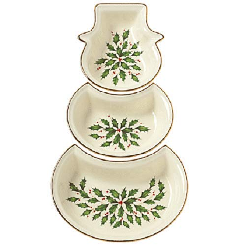 Lenox Holiday 3-piece Divided Figural Tray ()