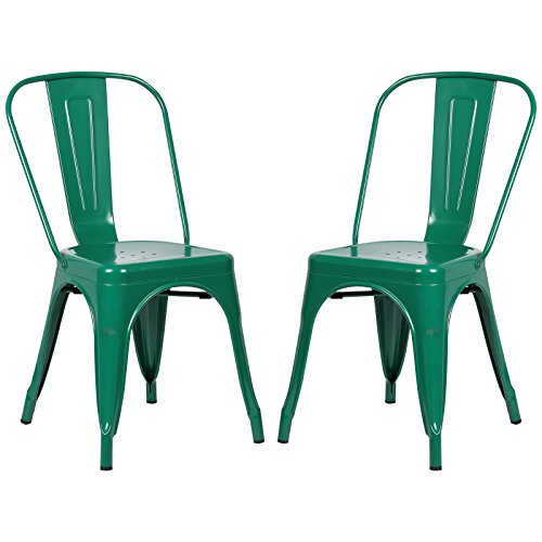 Dark Green Frame - Poly and Bark Trattoria Side Chair in Dark Green (Set of 2)