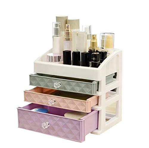 Desktop Organizer, Desktop Makeup Storage Box 3 Drawer Makeu