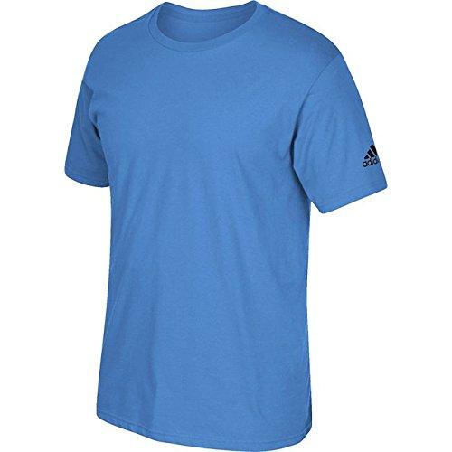 Adidas Volwassen T-shirt Met Korte Mouwen, Lichtblauw