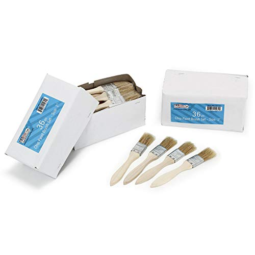 Chip Medium (US Art Supply 72 Pack of 1 inch Paint and Chip Paint Brushes for Paint, Stains, Varnishes, Glues, and Gesso)