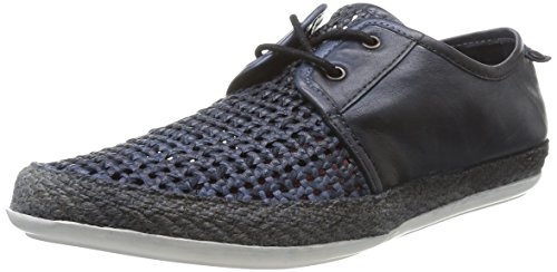 Mens Base London Casual Lace Up Shoes Tent Navy