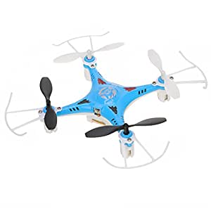 Annong X7 Explorers 2.4G High Frequency 4 Channel 6 Axis 3D Fly Gyro RC Quadcopter Rechargeable Helicopter Aircraft Outdoor for Playing Toy& Gift (Blue)