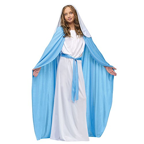Fun World Costumes Baby Girl's Child Mary Costume, Blue/White, Medium]()