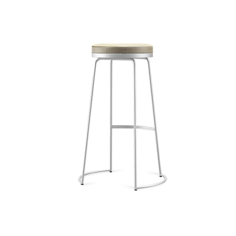 White 65CM YAN JUNau Bar Stool, Nordic bar Stool, bar Chair, high Stool, Fashion Leisure Chair (color   Black, Size   75CM)