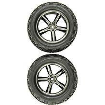 Traxxas 5374A Talon Tires on Black Chrome Gemini Wheel, E-Revo, 2-Piece