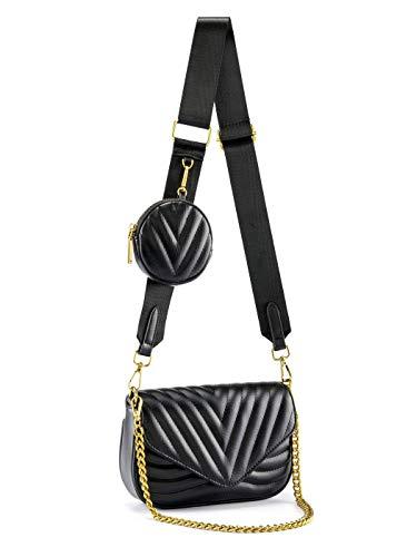 Ayliss Women Multipurpose Small/Medium Crossbody Bags Shoulder Handbag Coin Purse Trendy Clutch Evening Bag PU Leather…