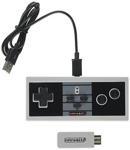 Retro-Bit NES Classic - Wireless Controller - Retro 8 Pro Controller - Compatible With Wii/Wii U (Retro-Bit) - NES; (Controller Wii Retro)