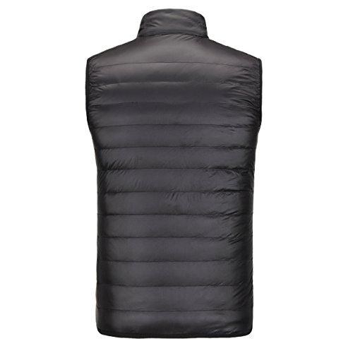 cremallera cuello down Chaquetas mantener ligero chaleco 02 caliente recta la breve macho abrigo de párrafo rPYYqFncR