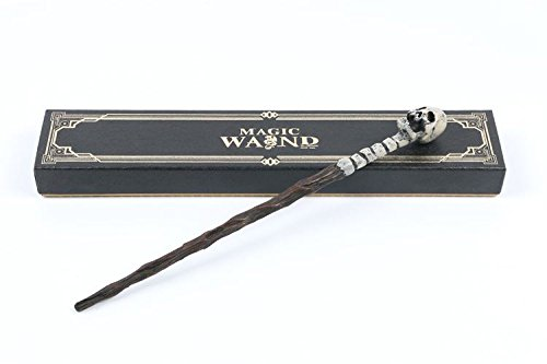 Cultured Customs Magical Wand Replicas - Steel Core Cosplay Prop Collectible + Free Bonus Collectible Trading Card (Death Eater -