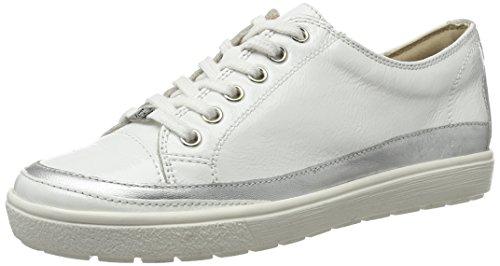 Caprice 23654, Sneakers Basses Femme Blanc (Wht Pat.multi)