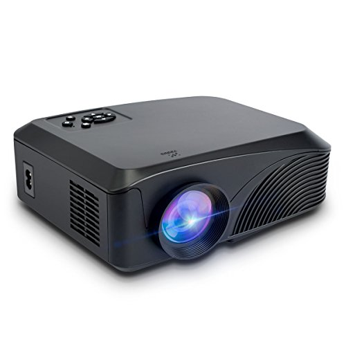 NUXER HD Display LED Projectors Support 1080P 1200 Lumens Portable Multimeadia LCD Beamer Remote Control Animation Projector Support Cinema PC Laptop Game Lightweight Overhead Projector