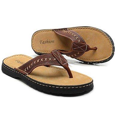 Sandalias de verano zapatos de hombre/EXTERIOR/atléticos casual sandalias de cuero marrón/negro Brown
