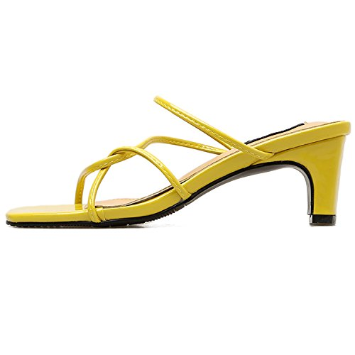 New Strappy picture Career Women shoes Slippers 2018 Sandals Woman Chunky Loft Office as Women Summer Heels Heels Sexy Gladiator xP8nx0r4