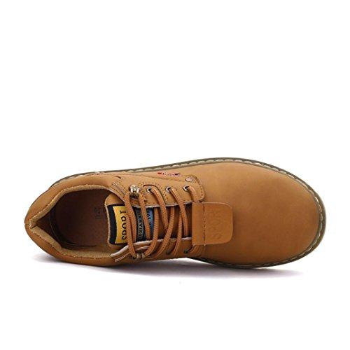Low Chic Khaki Up Shoes Boots Leather Fashion 2018 DIKEWANG Lace Classic Casual Men Boots Iafwvqn6