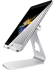 Eono Essentials Soporte Tablet, Multiángulo Soporte Tablet : Soporte Base Ajustable para Tablets para Pad 2018 Pro 10.5/9.7/12.9, Pad Mini 2 3 4, Pad Air, Air 2, Samsung Tab, Otras Tablets