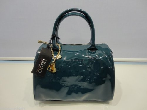 BORSA LIU JO DECORO LUCIDA BAULETTO dark grey green CON