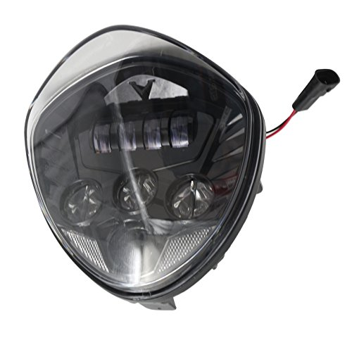 (LED Headlight for Victory Motorcycle Cross Road Country Cruisers 2010-2016 (Black))