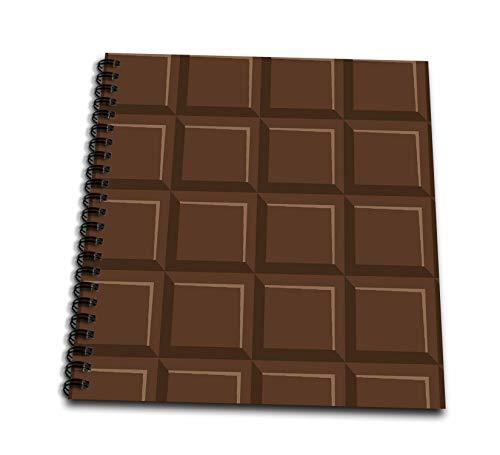 12x12 Chocolate Album (3dRose Sven Herkenrath Art - Pattern Art of Sweet Candy Chocolate Funny Graphic - Memory Book 12 x 12 inch (db_294187_2))