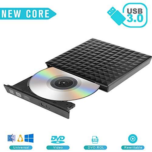 CD Drive USB 3.0 External Touch Control DVD Drive,Emmako DVD RW Burner CD Writer Player for Windows/Mac OS/iMac/PC/Laptops/Desktops/Notebooks(Black) (Best Virtual Desktop For Windows 7)