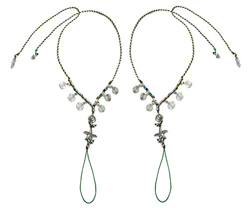 - Bienvenu Bohemia Style Wedding Barefoot Sandals Beach Anklet Chain Foot Jewelry, Silver_Star