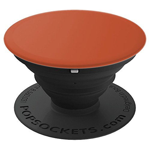 Terracotta Terra Cotta Terracota Color Solid Hue Plain - PopSockets Grip and Stand for Phones and - Terra Pedestal