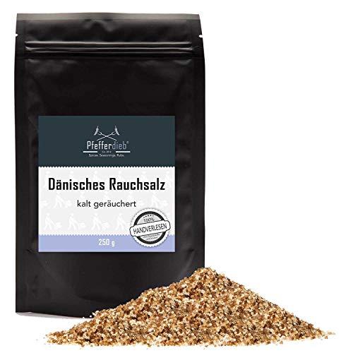Dänisches Rauchsalz, kaltgeräuchertes Meersalz | Original Buchenholzrauchsalz mild-würzig, 250g - Pfefferdieb®