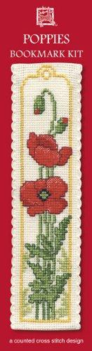 Cross Stitch Kit Textile Heritage Poppies Bookmark