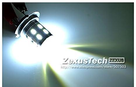 2 x H7 OxGrowTM lámpara de plata de faros antiniebla LED 5730 SMD un coche DRL luz CREE lente brillante estupenda día faro proyector bombilla LED: ...