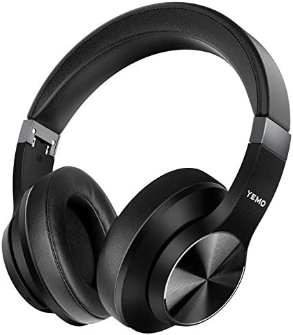 Updated 2020 Version High-End Hi-Fi Active Noise Cancelling Headphones apt-X Bluetooth Headphones with Microphone Deep Bass Wireless Headphones Over Ear, Comfortable Protein Earpads