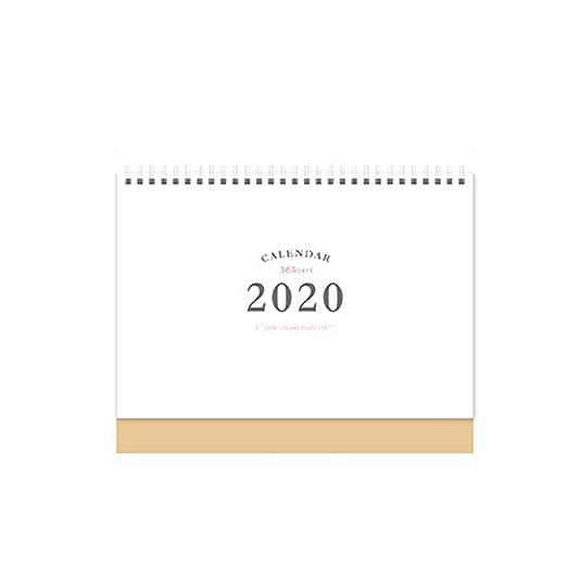 Calendario Calendarios de Escritorio Calendarios d 2020 simple ...