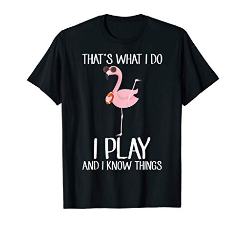 That's What I Do I Play And I Know Things Football Tshirt