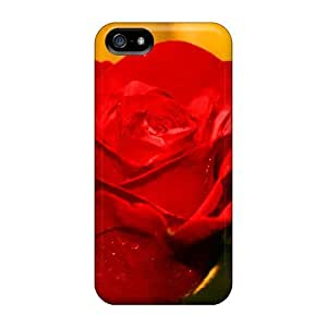 DrunkLove Case Cover Protector Specially Made For Iphone 5/5s Flowers Head Of Red Roses Backgrounds