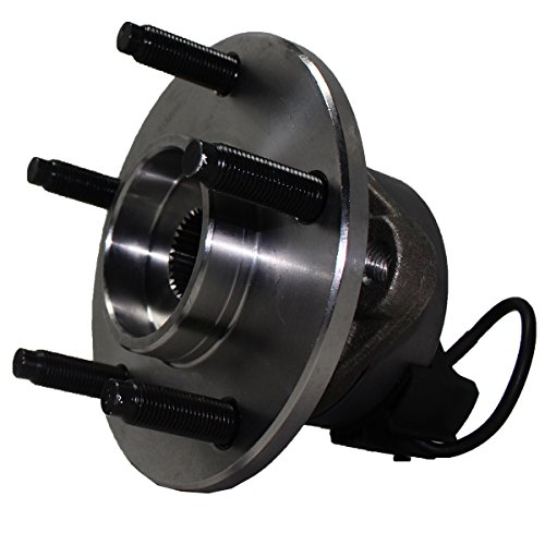 Detroit Axle - 5-Lug w/ABS Front Driver or Passenger Side Wheel Hub and Bearing Assembly for - Cobalt, Pursuit w/ABS - 5 Lug Wheels and HHR w/ABS & Rear Drum Brakes