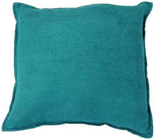 Hudson Suede Bedding - Hudson Street Faux Suede Single Decorative Pillow, 22 by 22-Inch, Turquoise
