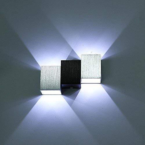 LIGHT BYJUM Apliques de Pared Lámpara 6W Luz de Pared para Iluminación Interior 85-220V,warmwhitelight
