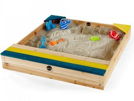 Plum Store-it Wooden Sand Box with Storage Bench and Seating by Plum (Image #1)