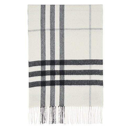 Burberry Women's Giant Check Scarf Ivory by BURBERRY