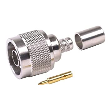 N Male Coax Connector for LMR-195 RG-58 RG-171 Coaxial Antenna