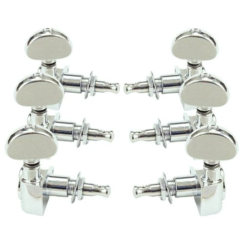 Grover Rotomatic Guitar Tuning Machines 14:1 Ratio 3 per side Chrome 102C