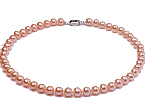 JYX AA Classic Round White Cultured Freshwater Pearl Necklace 18