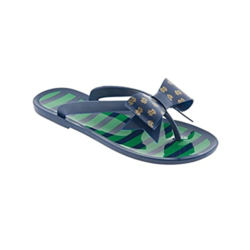 5e4ca34dd durable service University of Notre Dame Jelly Flip Flops and University of  Notre Dame Bow