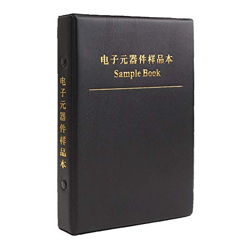 (Merssavo Electronic Component Sample Storage Book Chip Resistor Capacitor Patch Resistance Capacitance Package Empty Sample Book 20 Pages Combo Kit Assorted Folder)