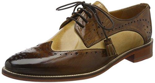 3 3 Cordones para Melvin Tobacco amp;Hamilton Mujer Crust Derby 1 Marrón Zapatos de Betty wqOafEp