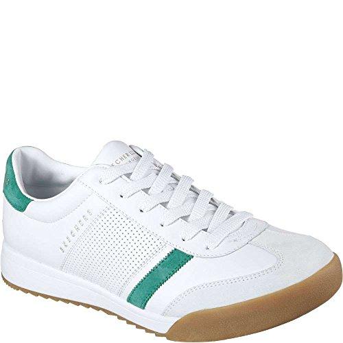 Skechers Mens Sneakers Zinger Fashion Bianco / Verde D (m) Us Bianco / Verde