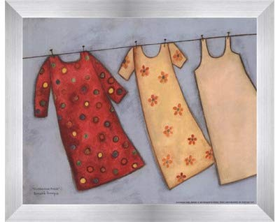 Clothesline Fresh by Bernadette Deming – 10 x 8インチ – アートプリントポスター LE_479905-F9935-10x8 B01N4QU0FT Stainless Steel Wood Frame